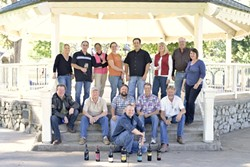 SMALL QUANTITIES, BIG TASTE :  Some of the Garagiste Festival winemakers are (clockwise from bottom left) Stewart McLennan, co-founder of the Garagiste Festival; Janell Dusi, J Dusi Wines; Victor Abascal, Vines on the MaryCrest; Florence Wong, Pipestone; Amy Butler, Ranchero Cellars; JP French, STANGER Vineyards; Joyce and Wally Murray, Bon Niche; Maggie Tillman, Alta Colina; Phillip Hart, Ambyth Estate; John Anderson, St. Hilaire Vineyard & Winery; Mike Sinor, Sinor La Valee; Bob Behlendorf, Vin Alegre; and Ryan Render, Rendarrio Vineyards. - PHOTOS BY STEVE E. MILLER
