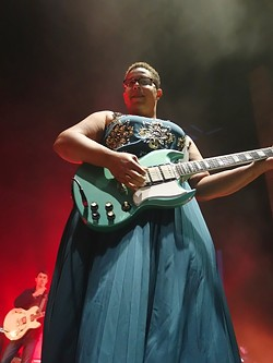 STAND TALL:  Lead singer Brittany Howard owned the stage with her presence, warmth, and generosity of spirit. - PHOTO BY GLEN STARKEY