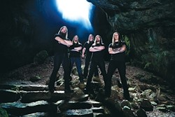 LIKE VIKINGS BUT MEANER :  Ears will bleed, brains will melt, and heads will bang on July 13 when metal/thrash band Skeletonwitch plays Downtown Brew. - PHOTO COURTESY OF SKELETONWITCH