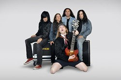FOR THOSE ABOUT TO ROCK :  We salute you! See High Voltage—a tribute to ACDC—at SLO Brew on Oct. 1. - PHOTO COURTESY OF HIGH VOLTAGE