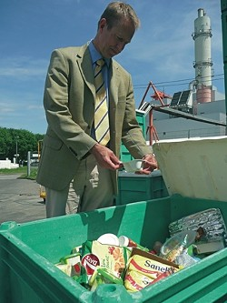 ONE MAN'S TRASH … :  Biogas plant operator Jörn Franck, from Hamburg, explains how organic waste can be converted into energy, in Valentin Thurn's Taste the Waste. - PHOTO COURTESY OF VALENTIN THURN