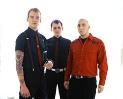 DARK PUNK :  Alkaline Trio brings their dark-edged punk rock to Downtown Brew on June 5 for an all-ages show. - PHOTO COURTESY OF ALKALINE TRIO
