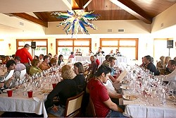 WELCOME :  The Iron Sommelier Challenge at the Lido Restaurant in Dolphin Bay Resort allows guests to taste pairings of food and Pinot Noir suggested by the nation's top wine experts. - PHOTO COURTESY OF WORLD OF PINOT NOIR