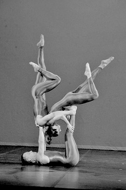 'EXPERIMENTS IN HUMAN ARCHITECTURE' :  Bizarre acrobatic dance troupe Galumpha performs at the Cal Poly PAC on Sunday, Jan. 29. - PHOTO COURTESY OF CAL POLY ARTS