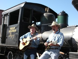 HOP ON BOARD! :  Don Lampson (left) and Peter Morin will perform for the Central Coast Railroad Festival at various venues between Oct. 7 and 9. - PHOTO COURTESY OF THE CENTRAL COAST RAILROAD FESTIVAL