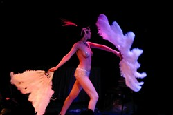 VA VA VHOOM! :  The burlesque show is always a big draw and brings in talent from all over the U.S. - PHOTOS OF THE 2005 EVENT BY GLEN STARKEY