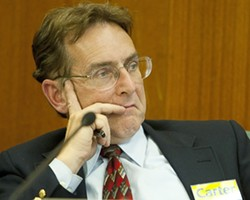 TARGET? :  Councilman Andrew Carter finds himself under the close scrutiny of the SLO Police Officers' Association. - PHOTO BY STEVE E. MILLER
