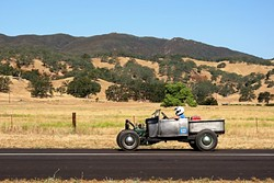 ALL CUSTOM:  Local builder/fabricator Hank Van Gaale built his Ford roadster pickup from the ground up, using a 1929 Model A motor. - PHOTO BY GLEN STARKEY