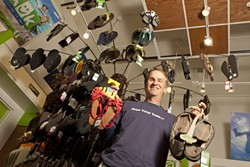 REVOLUTION BEGINS WITH FEET :  Scott Callisch is on a mission to liberate the toes of SLO County residents, one flip-flop at a time. - PHOTO BY STEVE E. MILLER