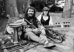 THE CELT AND THE CALIFORNIAN:  Great husband and wife duo Four Shillings Short brings their Celtic, folk, and world music sounds to the Unitarian Universalist Community of Cambria's church on Dec. 28. - PHOTO COURTESY OF FOUR SHILLINGS SHORT