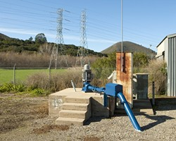 WATER, WATER EVERYWHERE:  Due to nitrate contamination and pumping restrictions during dry periods, wells like the Ashurst (pictured), are either off limits for Morro Bay's water supply or must be treated at the city's costly desalinization plant. - PHOTO BY STEVE E. MILLER