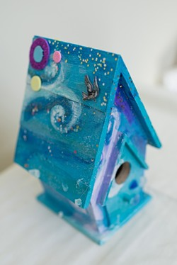 STARRY FLIGHT:  The Women's Shelter Program will be showcasing artwork made in its art therapy program. - PHOTO COURTESY OF BETH RAUB