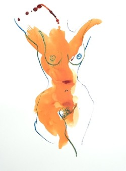 SANS HEAD :  In his film, Bill Buchman paints a series of nude female figures to illustrate various styles. - PHOTO COURTESY OF BILL BUCHMAN