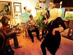 "FIERCE:  Gypsy flamenco performer Jamie ""La Gitane"" will bring her heel-stomping style to Steynberg Gallery on June 13. - PHOTO COURTESY OF JAMIE LA GITANE"