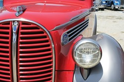 THEY DON'T MAKE 'EM LIKE THEY USED TO:  Check out the incredible styling of this Ford fender! - PHOTO BY GLEN STARKEY