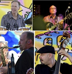 PLAYIN' FOR PISMO!:  The Land Conservancy of San Luis Obispo County is hosting a free outdoor concert to benefit the Pismo Preserve on July 6 at Dinosaur Caves Park in Pismo Beach with four acts including the Darrell Voss Quartet. - PHOTO COURTESY OF THE DARRELL VOSS QUARTET