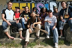 TRIBUTE TO BOB :  Groundation, a reverential roots reggae ensemble, performs a tribute to Bob Marley on Feb. 24 at Downtown Brew. - PHOTO COURTESY OF GROUNDATION