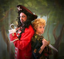 GIVE HIM A HAND:  Captain Hook seeks vengeance on Peter for cutting his hand off and feeding it to the ticking crocodile. - PHOTO COURTESY OF KELRIK PRODUCTIONS