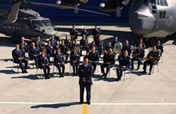 STAND AND SALUTE! :  The Air National Guard Band of the West Coast will present a free concert of band favorites on July 2 at the Ramona Garden Park in Grover Beach. - PHOTO COURTESY OF THE AIR NATIONAL GUARD BAND OF THE WEST COAST
