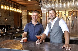 NEW AGE :  Co-owner Daryl Cope (left) and manager Dustin Winkelpleck created the Mason Bar to be a place where adults can go, the type of bar that locals don't have to drive to SLO or Santa Barbara to find. - PHOTO BY CAMILLIA LANHAM