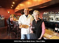 TIMES TWO :  Ash Mehta, in partnership his wife Lissa Hallberg, have reproduced in Pismo Beach the very successful wine bar they own in Solvang - PHOTO BY STEVE E. MILLER