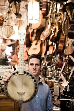 BANJO-TASTIC! :  Jayme Stone's Room of Wonders appears in two SLOfolks concerts: March 2 at Coalesce Bookstore and March 3 at Castoro Cellars. - PHOTO COURTESY OF JAYME STONE