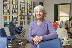 MOLDING YOUNG MINDS :  Kindergarten instructor Sheila Wynne told New Times that the teachers' lounge is rife with discussions about NCLB regulations 'leaching the fun out of the job.' - PHOTO BY STEVE E. MILLER