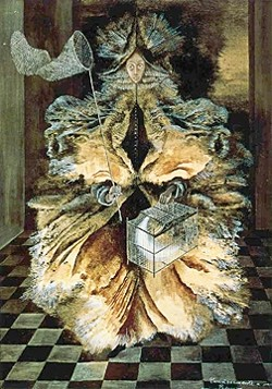 GIRLS ROCK, GIRL PAINTERS RULE :  Women In Art Lecture Series takes place on Sept. 17 from 7-9 p.m. featuring Georgia O'Keeffe and Oct. 15 from 7-9 p.m. featuring Remedios Varo (The Star Catcher from 1956 is pictured). The lectures are $15 each, last two hours, and are presented by Tess Wright. The Painted Lily is located at 2026 Main Street in Cambria. Reservations required. Gallery hours are from 10 a.m. to 5 p.m. daily. Closed Tuesday. Artists in residence include: Lucia Capacchione, Mary Anderson, Tim Mayer. Associates include: Tess Wright and Lydia Cantrell. Wright hopes to one day create a stage drama that would give famous women artists a voice. Info: 927-5747. - IMAGE COURTESY OF TESS WRIGHT