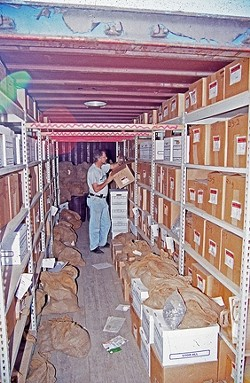 HISTORY CONTAINED:  In the early years, Chinatown artifacts were kept in a storage container, but later shifted to an adobe in SLO. - PHOTO COURTESY OF LAKE COUNTY ARCHAEOLOGY
