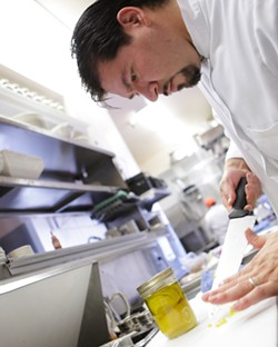 CLUB CAR:  Chef Ruben Sandoval contributed the recipe for a delectable scallop treat - PHOTO BY STEVE E. MILLER
