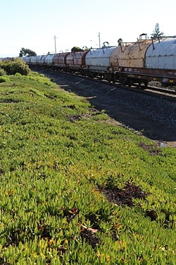 OFF TRACK:  There were a total of 263 railroad accidents between 2012 and 2014 in California: 190 were classified as derailments. - PHOTO BY DYLAN HONEA-BAUMANN