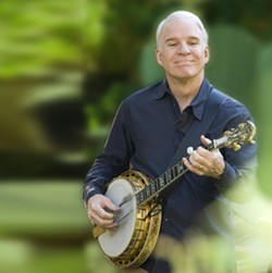 BLUEGRASS FUNNYMAN :  Comic, actor, writer, and musician Steve Martin plays tracks from his Grammy-winning bluegrass album Oct. 6 in the Performing Arts Center. - PHOTO COURTESY OF CAL POLY ARTS