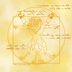 LEOMORPHIC DA VINCI:  An illustration by Cubist, otherwise known as Quentin Long, editor of the webzine Anthro (anthrozine.com). - IMAGE COURTESY OF CUBIST