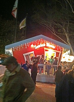 SANTA'S HOUSE:  Take a ride on Santa's lap and tell him what you want for Christmas in the SLO Mission Plaza. - FILE PHOTO BY GLEN STARKEY