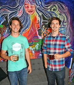 RIDE THE WHALEBIRD:  Mike Durighello (left) and Jake Pritzlaff of Whalebird Kombucha dream of a day when their locally made probiotic tea is as highly regarded (and consumed) as craft beer. - PHOTO BY HAYLEY THOMAS