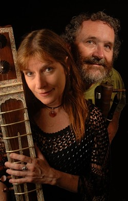 TWO PEOPLE, 30 INSTRUMENTS!:  Four Shillings Short plays their Yuletide/winter concert on Dec. 13 at Coalesce Bookstore. - PHOTO COURTESY OF FOUR SHILLINGS SHORT