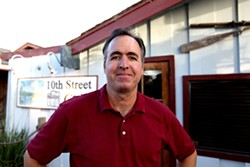 DOWN-HOME EATS :  Jay Dickinson serves up hearty meals at reasonable prices at 10th Street Grill in Los Osos. - PHOTO BY LAURA DICKINSON