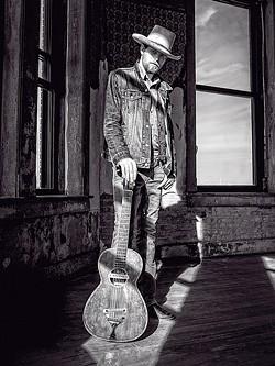 ROAD WARRIOR:  Joshua Kloyda brings his acoustic blues sounds to Old Cayucos Tavern on Aug. 26. - PHOTO COURTESY OF JOSHUA KLOYDA