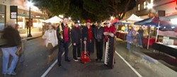 LAISSEZ LES BON TEMPS ROULEZ! :  Burning James and the Funky Flames (pictured) and the Zongo! All Stars play a Mardi Gras show at SLO Brew on Feb. 21. - PHOTO BY DEAN SULLIVAN