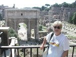GLOBETROTTER :  Traveling author visits the Roman forum in Italy. - PHOTO COURTESY OF VICKI LEÓN