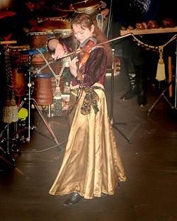 SOUNDS LIKE AN ANGEL :  Internationally acclaimed violin virtuoso and composer Kim Angelis plays Coalesce Bookstore on Sept. 13. - PHOTO COURTESY OF KIM ANGELIS