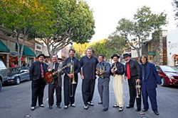 JUMP AND JIVE :  Hep cats the Sugar Daddy Swing Kings will usher in the Labor Day Weekend with a free show at the Paso Robles City Park on Aug. 29. - PHOTO COURTESY OF SUGAR DADDY SWING KINGS