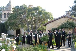 EARLY MUSIC :  Twelve-man vocal ensemble Chanticleer will perform music unearthed by Dr. Craig Russell at the SLO Mission on June 8. - PHOTO COURTESY OF CHANTICLEER