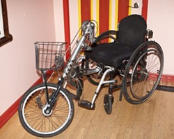 FREEDOM MACHINE :  The late Greg O'Kelly's specially designed hand-pedaled wheelchair is up for grabs. - PHOTO BY STEVE E. MILLER