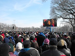 OBAMA CROWD: - PHOTO BY MARCUS KING