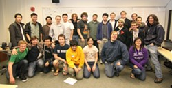 THE TEAM :  Members of the Cal Poly Game Developers Club endured a 48-hour marathon of game design and development in January: the Global Game Jam. - PHOTO COURTESY OF CHRIS GIBSON