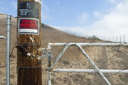 FENCE FIASCO:  After an oversight by county officials was rectified, landowner Rob McCarthy was ordered on Feb. 7 to remove the trail-blocking fences he has recently installed on Ontario Ridge. - FILE PHOTO BY STEVE E MILLER