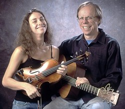 TWO ON THE TOWN :  On Jan. 15, St. Benedict's Church hosts acoustic duo Notorious—New England musicians Eden MacAdam-Somer and Larry Unger—during a Red Barn Music Series concert. - PHOTO COURTESY OF NOTORIUOS