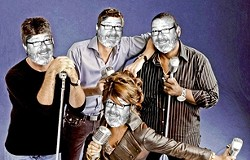 JUDGE DREDD:  (Clockwise from left) Simon Cowell, host Ryan Seacrest, Randy Jackson, and Paula Abdul presided over the first eight #1-rated seasons of American Idol, and now Glen Starkey will help judge SLO Brew's 5th Annual Karaoke Contest on Aug. 1. - PHOTO COURTESY OF FOX