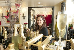 LIVING HER DREAM :  Starr Hall is owner of Cuvee Champagne Wine Bar, a venture she's been developing for a long time—at least mentally. - PHOTO BY STEVE E. MILLER